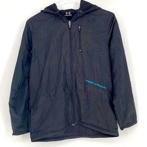 Under Armour youth black lined windbreaker jacket